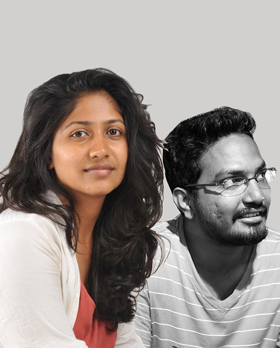 Vineeta Oswal and Manoj Pilli