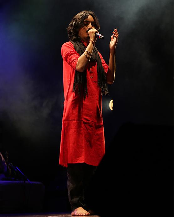 Opening performance by Aaditya Gadhavi